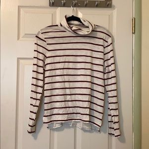 Madewell Whisper Cotton Striped Turtleneck